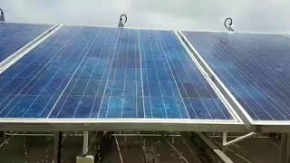 Automatic system for cleaning and washing solar panels
