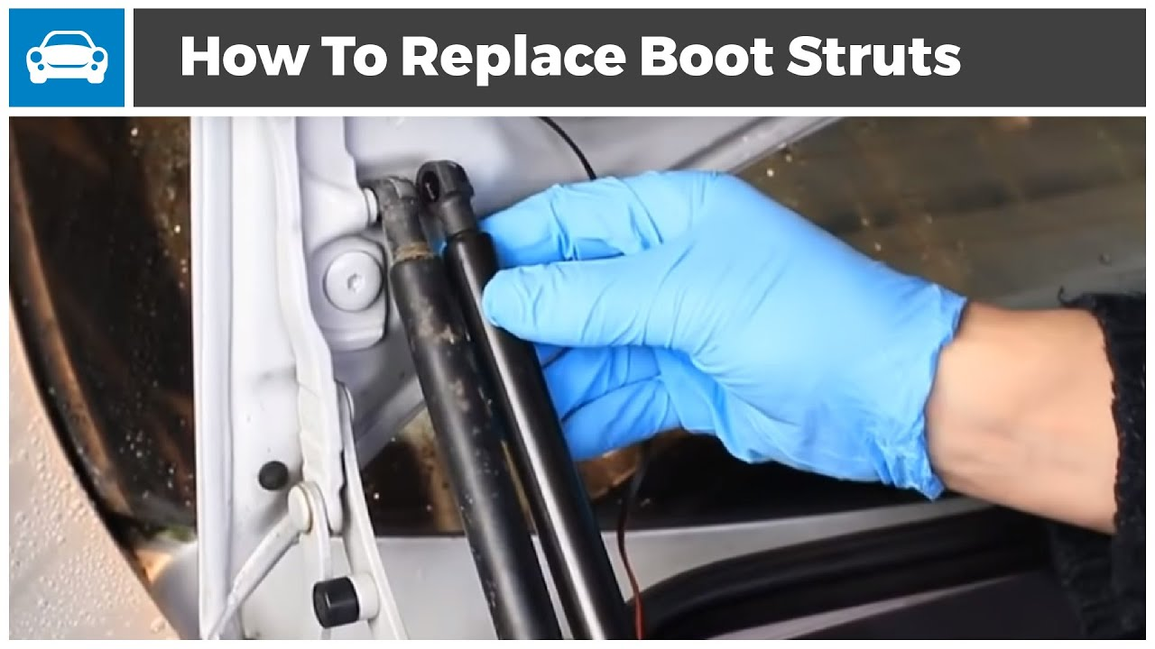 How to Replace the Boot Strut Gas Springs on Your Car  From MicksGarage  YouTube