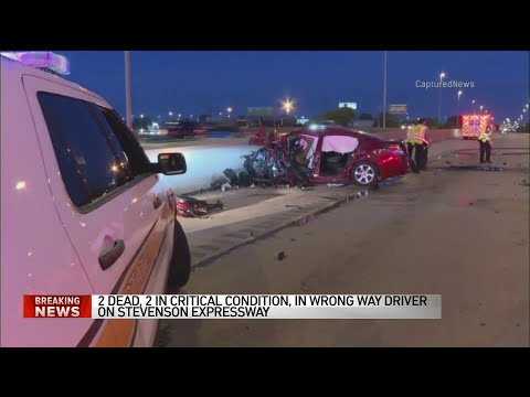 2 dead, 2 critically injured in wrong way driver crash