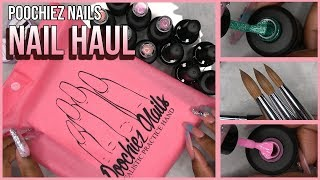 Acrylic Nails Tutorial - Nail Haul - Poochiez Nails Haul - Gel Polish - Nail Brushes - Practice Hand