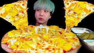 치즈추가 고구마무스 크림치즈피자 먹방 ASMR POTATO CHEESY PIZZA ポテトピザ MUKBANG EATING SHOW
