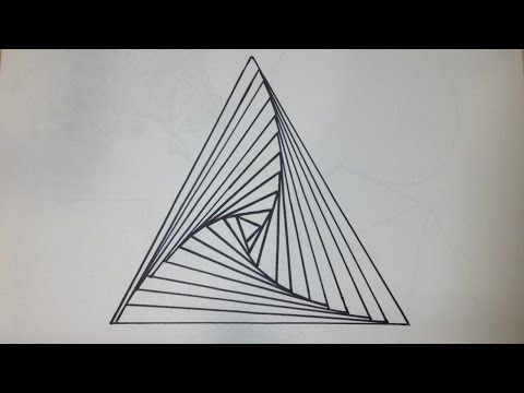 How to Draw a Triangle Spiral | Abstract Drawing   +200 SUBSCRIBER SPECIAL!!!
