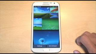 Samsung Galaxy Note 2 Live Wallpaper / Wallpapers GT-N7100