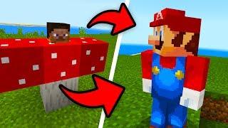 How To Spawn SUPER MARIO in Minecraft Pocket Edition! (Mario Craft Addon)