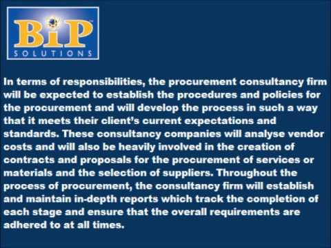 Procurement Consultancy explained by Bip Solutions