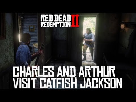 Red Dead Redemption 2 Charles And Arthur Visit Catfish Jackson