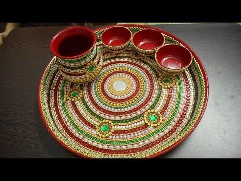 decorative pooja thali -2