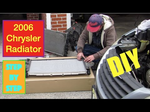 How To Remove and Replace a Radiator 2006 Chrysler Town and Country