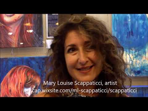 Mary Louise Scappaticci, artist at The Imagine Gallery in Toronto, September/October 2017