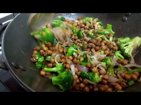 Veg Bodybuilding fried rice | HIGH PROTEIN VEGAN MEAL PREP | How to cook brown rice