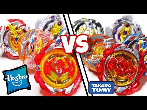 Turbo VS Cho Z Beyblade Battle   Hasbro VS Takara Tomy