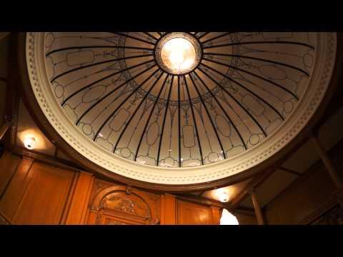 Inside the Titanic Museum on International Drive, Orlando, Florida - Grand Staircase & Cherub