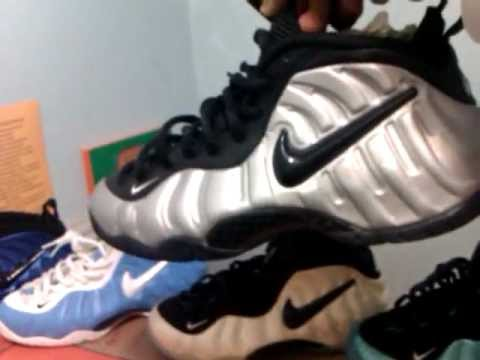9c66688c6ca37 Nike foamposite pro collection part 1 silver pros - YouTube