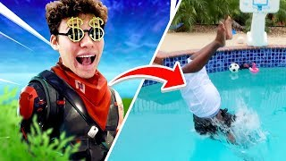 CRAZY JUMP IN POOL WAGER in FORTNITE
