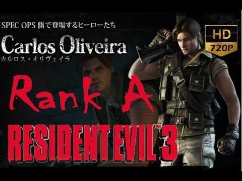 Resident Evil 3 The Mercenaries Carlos Rank A Hq Ps3