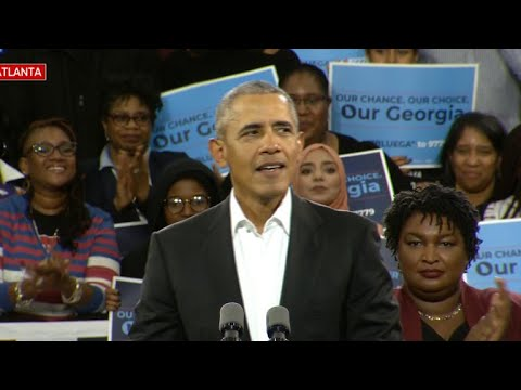 Former President Obama rallies for Democratic candidate Stacey Abrams in Georgia
