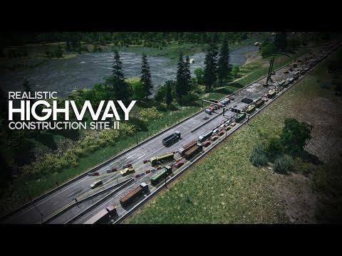 Cities: Skylines | Realistic Highway Construction Site II