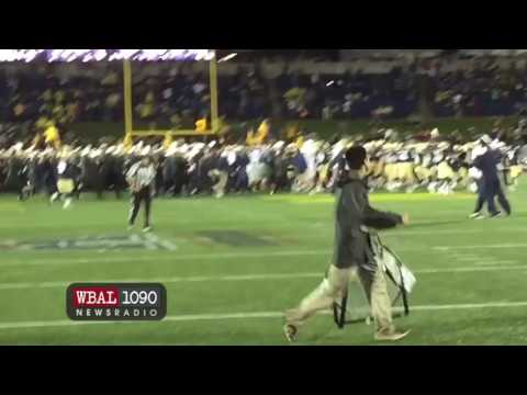 Fans Rush The Field After Navy Football Defeats Houston