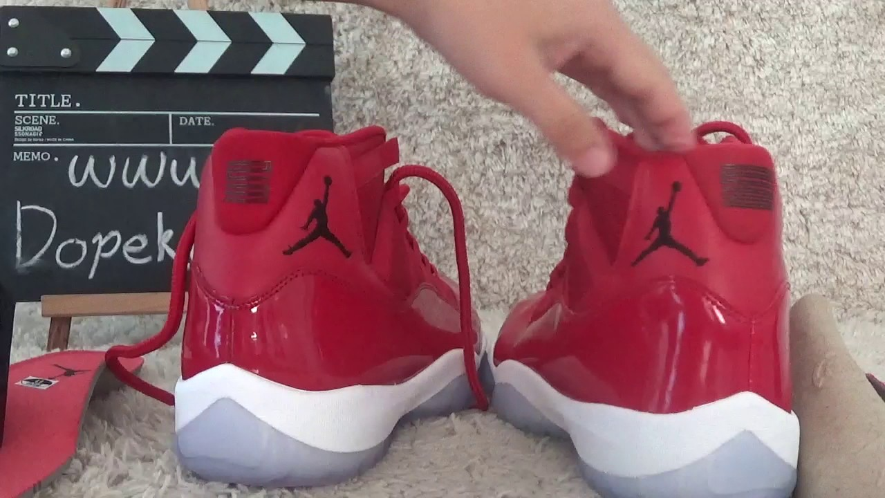 f98056a9374 Identify!!! Real or Fake ? jordan 11s Gym Red Review from Dopekickz23