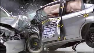 Honda Accord vs Honda Jazz - Crash test compatibilità IIHS, Sicurauto.it