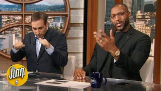 Woj broke some news about Kawhi & Paul George that had Tracy McGrady fired up | The Jump