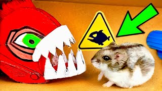 JAWS Hamster Maze with Traps [OBSTACLE COURSE]