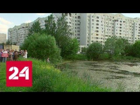 Жители Балашихи пытаются отстоять городской сквер и озеро - Россия 24
