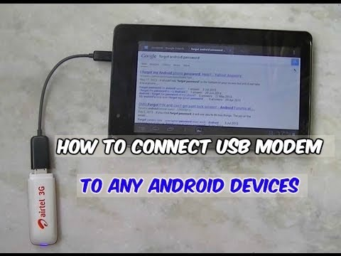 How To Conenct 3G Dongle To Android Phone or Tablet | 1000% Working