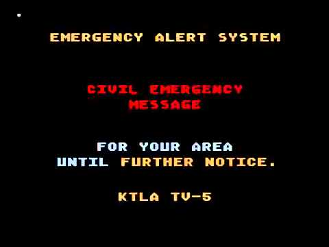 NUCLEAR ATTACK on LOS ANGELES from NORTH KOREA   Emergency Alert System Activation TEST