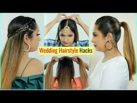 6 LIFE Saving WEDDING Hairstyles HACKS You MUST Try .. | #Tricks #Bridal #Haircare #ShrutiArjunAnand