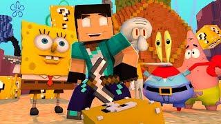 Minecraft Invasores : INVADINDO O MUNDO DO BOB ESPONJA!!