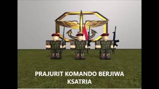 Hymne Kopassus with Roblox Visual