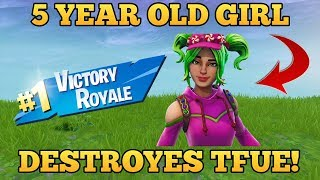 *5 YEARS* OLD GIRL DESTROYES TFUE! - Fortnite funny Fails and WTF moments! #23