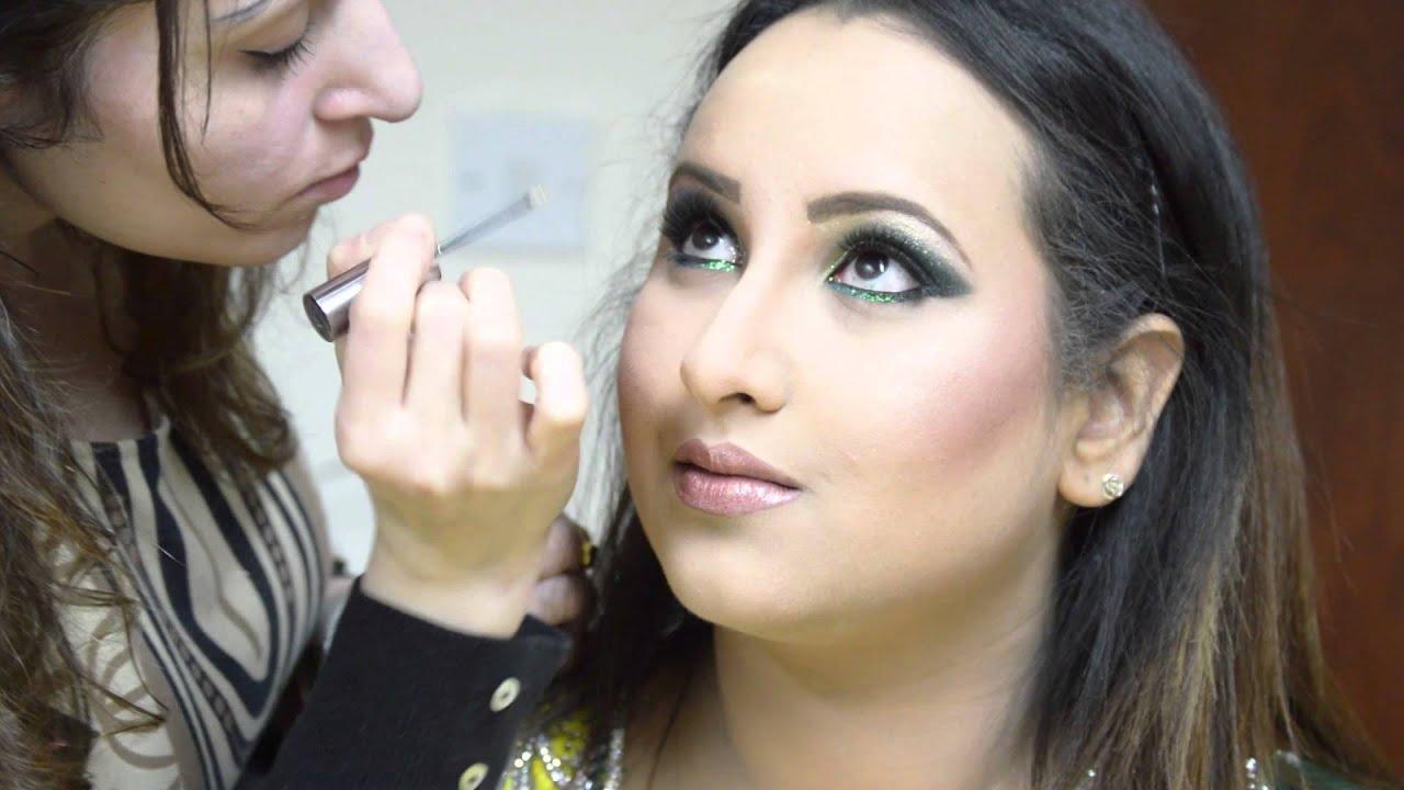 illusionz salon - saneaah hair & make-up video - sheffield make-up