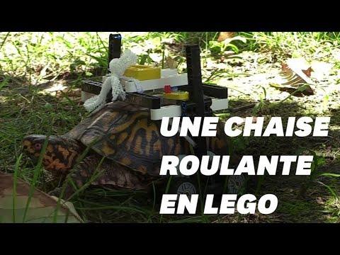 cette tortue est quip e d 39 une chaise roulante faite en lego youtube. Black Bedroom Furniture Sets. Home Design Ideas