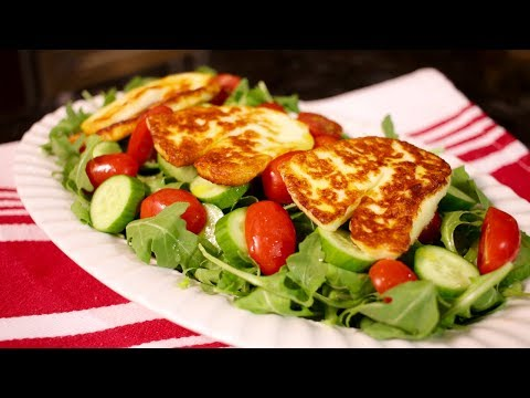 How to make Grilled Halloumi Salad (Assyrian Food)