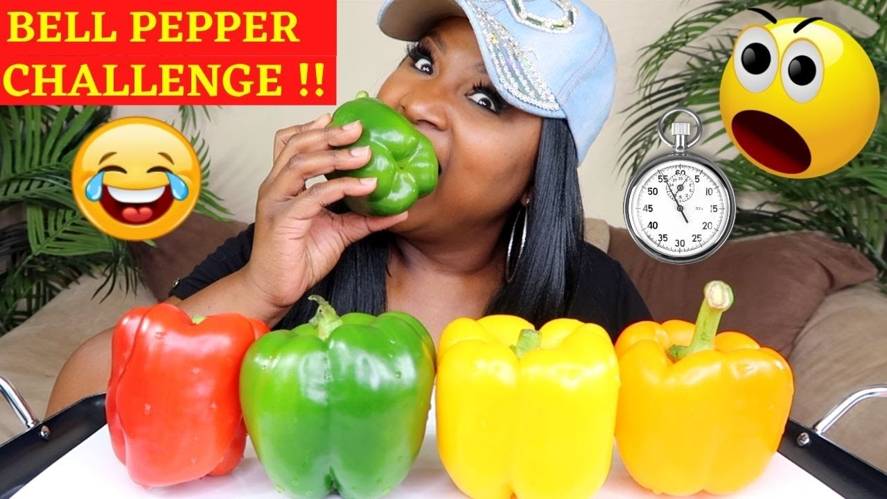 BELL PEPPER CHALLENGE !! 4 BELL PEPPERS IN 15 MINUTES KC CONNECTION