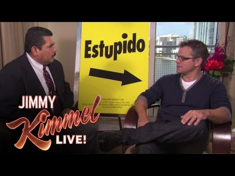 Thumbnail: Guillermo Crashes Matt Damon Interview