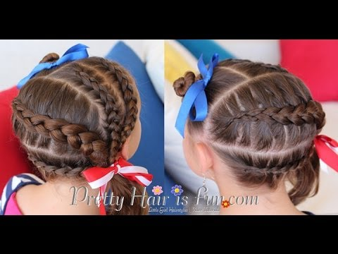 How To: 4th of July Hairstyle: American Flag Hairdo | Pretty Hair is Fun - How To: 4th Of July Hairstyle: American Flag Hairdo Pretty Hair
