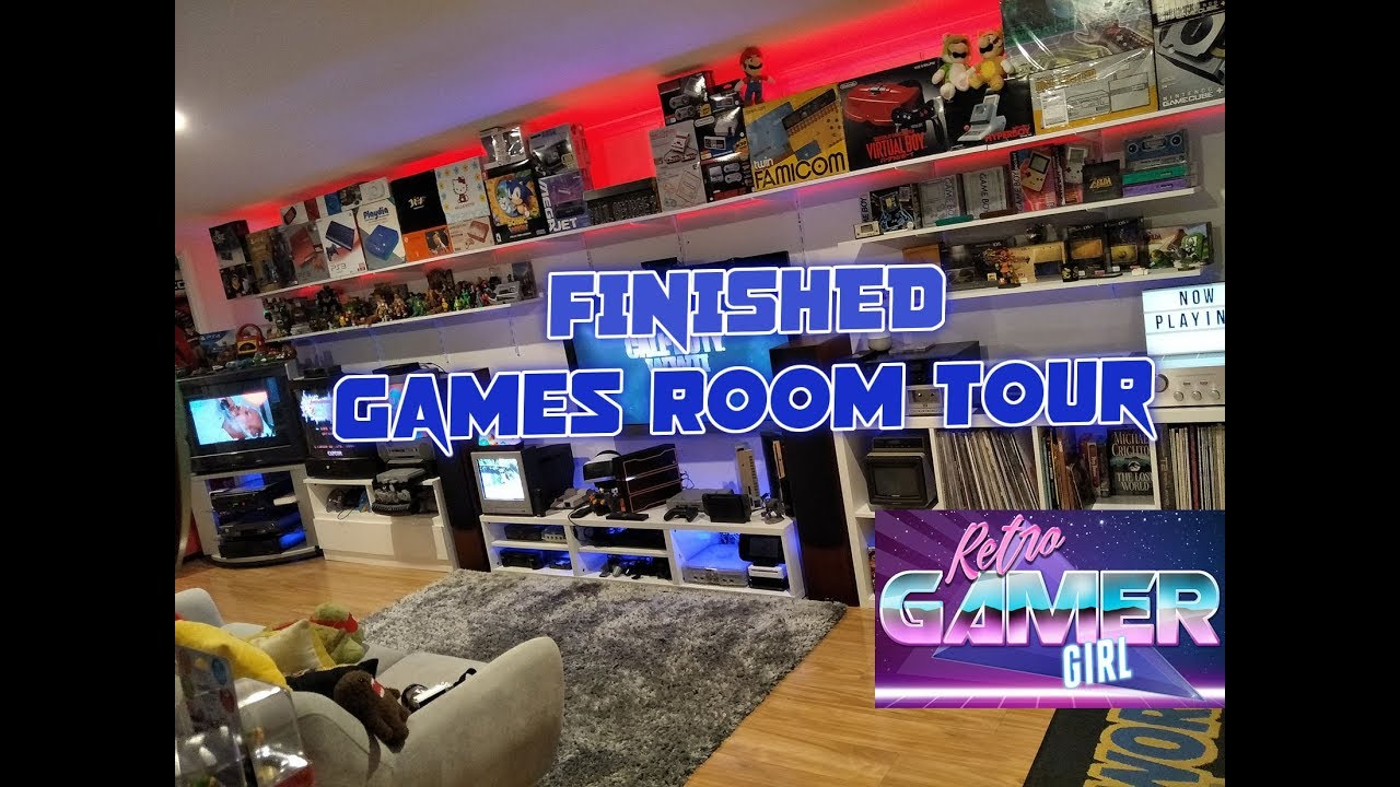 Huge Latest Games Room Tour Australia Updated Changes | Retro Gamer Girl