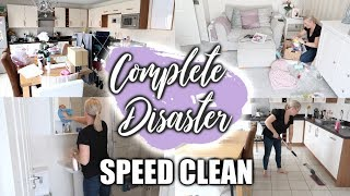 COMPLETE DISASTER CLEANING MOTIVATION | ALL DAY CLEAN WITH ME | Sarah-Jayne Fragola