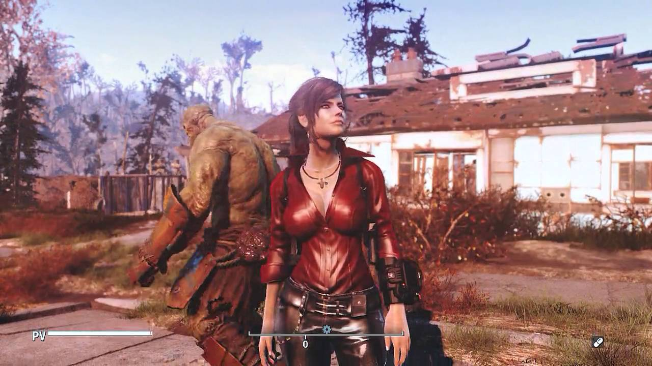Test Port RE-6 Ada Wong OutFit Fallout 4 CBBE Body by Alessa