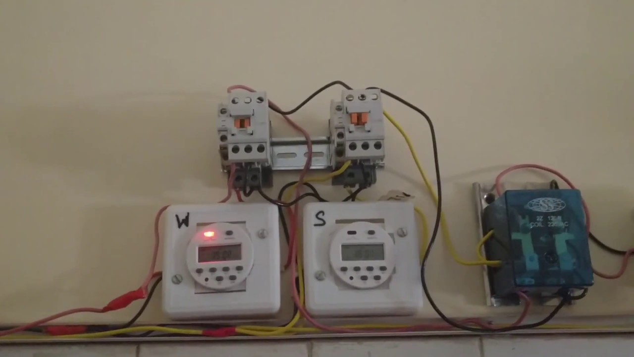 Automatic Change Over Switch For Utility And Solar Power Youtube Changeover Relay