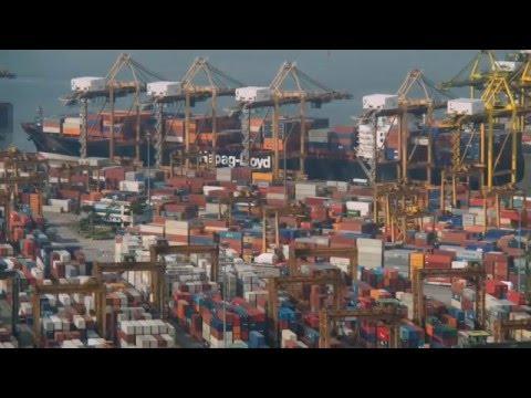 Quá trình làm hàng Singapore Container Terminal