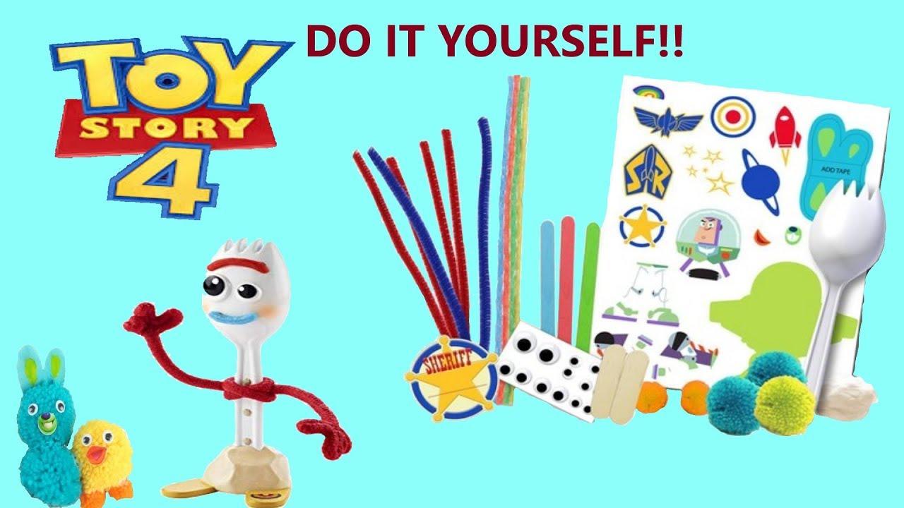 Disney Toy Story 4 Creativity Set Pixar Make Your Own Forky Bunny Ducky Buzz