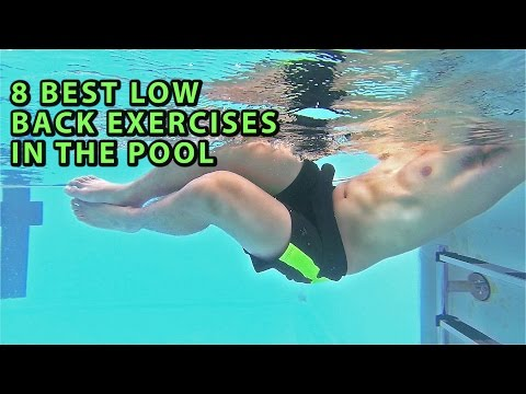 8 LOW BACK/INJURY EXERCISES IN THE POOL/HYDROTHERAPY