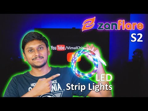 RGB LED Strip Light with 1200+ Color Changing Options | Zanflare S2 Review