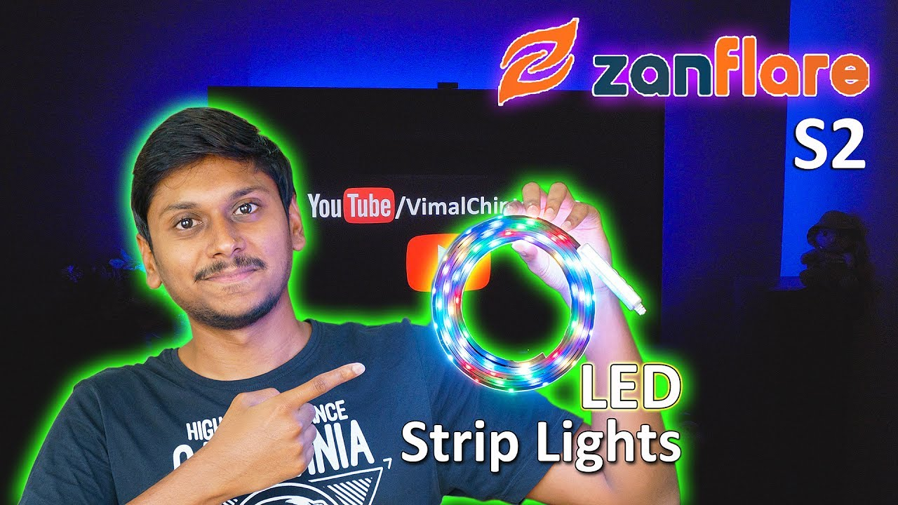 Download RGB LED Strip Light with 1200+ Color Changing Options | Zanflare S2 Review