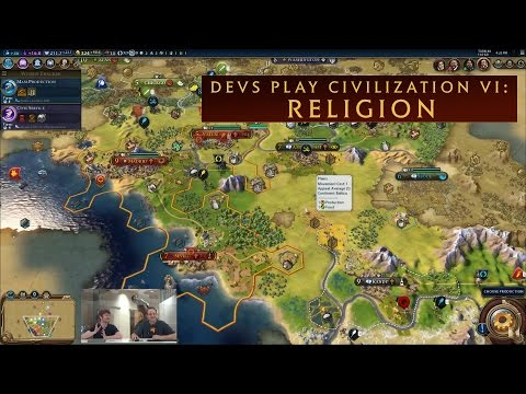 CIVILIZATION VI - Devs Show Off Religion
