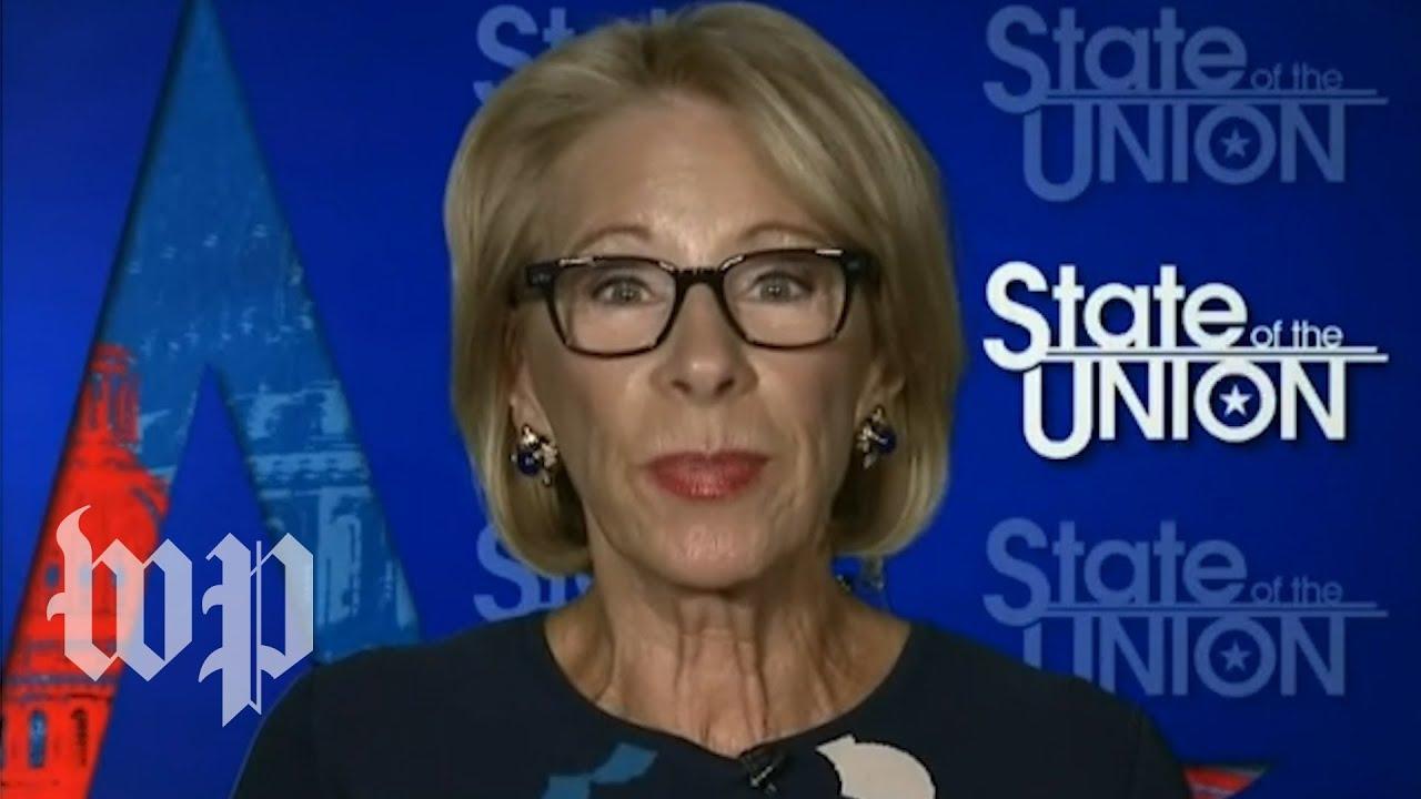 DeVos defends Trump's push to reopen schools amid criticism